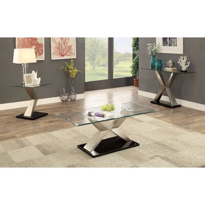 Shania Contemporary 3 Piece Coffee Table Set
