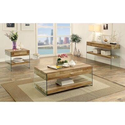 Guero 3 Piece Rectangle Coffee Table Set