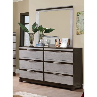 Dowd 6 Drawer Dresser with Mirror