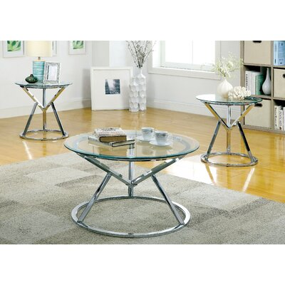 Destan 3 Piece Coffee Table Set