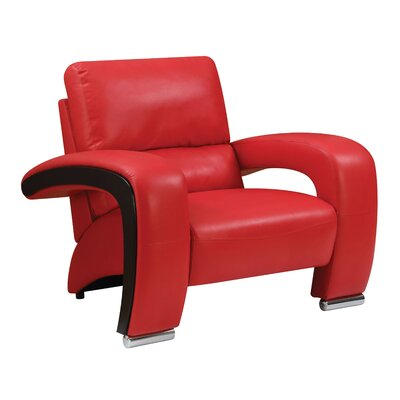 Meredith Contemporary Armchair Upholstery: Red