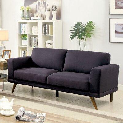 Johnathan Mid-Century Modern Sofa Upholstery: Black