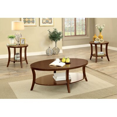 Brazell Transitional 3 Piece Coffee Table Set