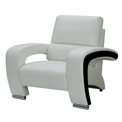 Meredith Contemporary Armchair Upholstery: White