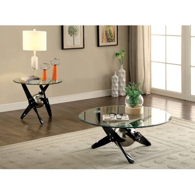 Colmont Contemporary 2 Piece Coffee Table Set