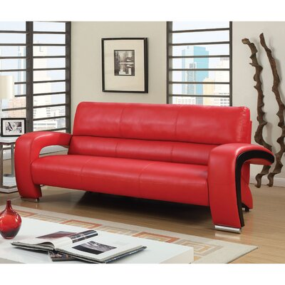 Obrian Contemporary Sofa Upholstery: Red