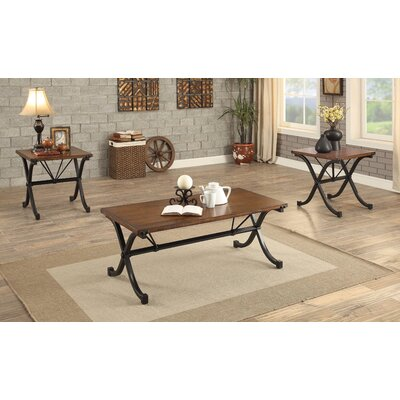 Colleton Transitional 3 Piece Coffee Table Set