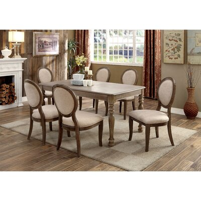 Bloomingdale Transitional Dining Table Color: Dark Oak