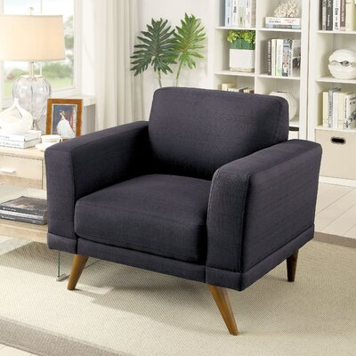 Johnathan Mid-Century Modern Armchair Upholstery: Black