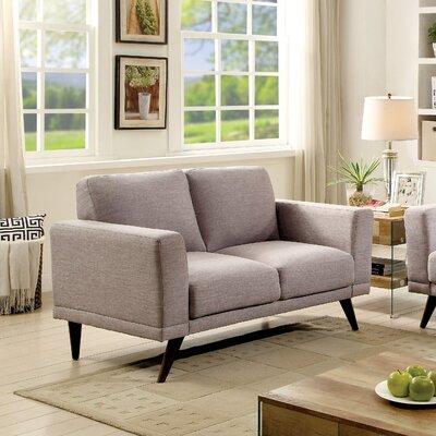 Johnathan Mid-Century Modern Loveseat Upholstery: Gray