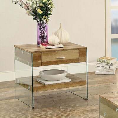 Destanee Contemporary End Table Finish: Natural