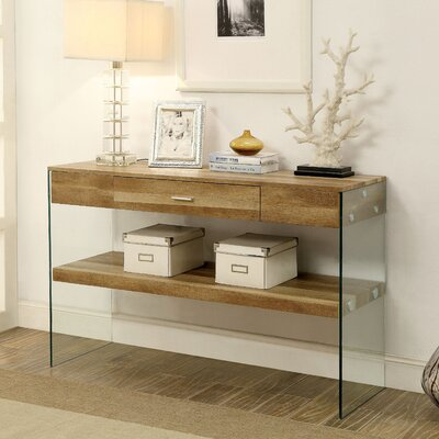 Destanee Contemporary Console Table Finish: Natural