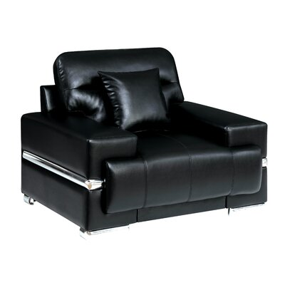 Tabitha Contemporary Armchair Upholstery: Black