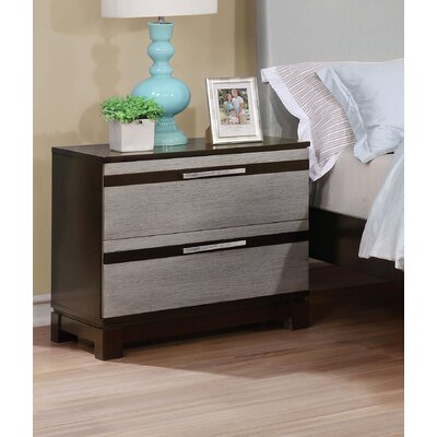 Dowd Contemporary 2 Drawer Nightstand