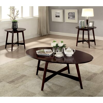 Brashears Mid-Century Modern 3 Piece Coffee Table Set