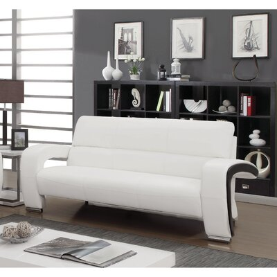 Meredith Contemporary Sofa Upholstery: White