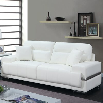 Obryant Contemporary Sofa Upholstery: White