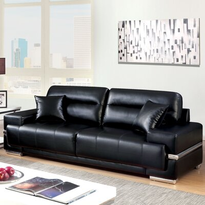 Tabitha Contemporary Sofa Upholstery: Black