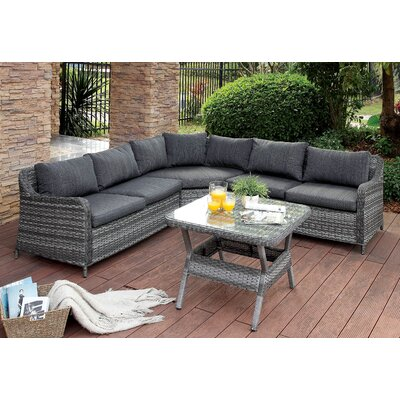 Annetta Hollister 3 Piece Lounge Seating Group with Cushion