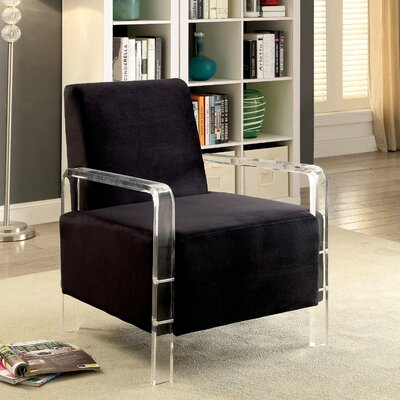 Kailey Contemporary Armchair Upholstery: Black