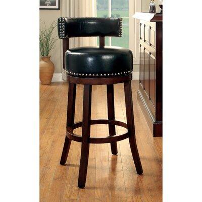 Tonia 29.5 Swivel Bar Stool Upholstery: Black