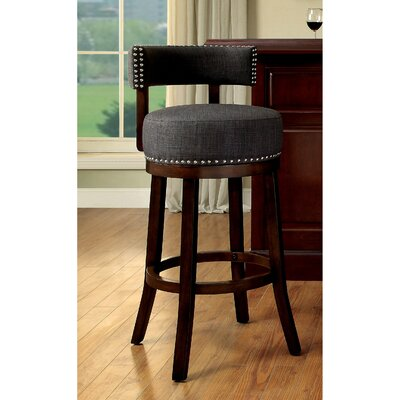 Norden Contemporary 30 Swivel Bar Stool Upholstery: Gray