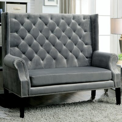 Tadashi Contemporary Settee Upholstery: Gray