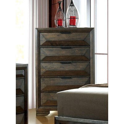 Bender Contemporary 5 Drawer Chest