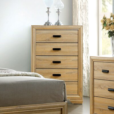 Campbell Contemporary 5 Drawer Chest