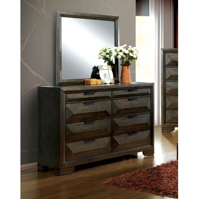 Bender 5 Drawer Dresser with Mirror