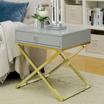 Aguila Contemporary End Table Color: Gray