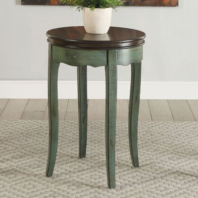 Ardin Vintage Style End Table Finish: Green