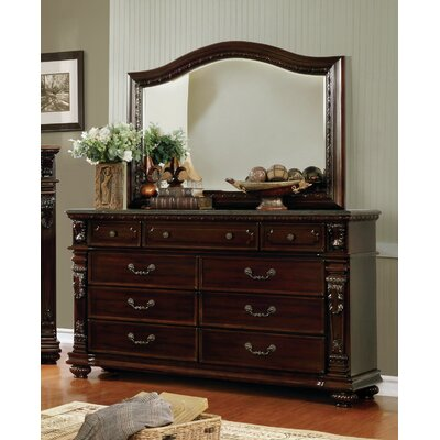 Kelly 9 Drawer Dresser with Mirror