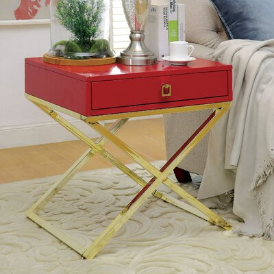 Aguila Contemporary End Table Finish: Red