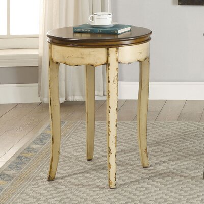 Ardin Vintage Style End Table Finish: White