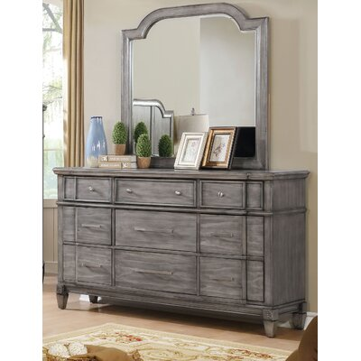 Parham 9 Drawer Dresser with Mirror
