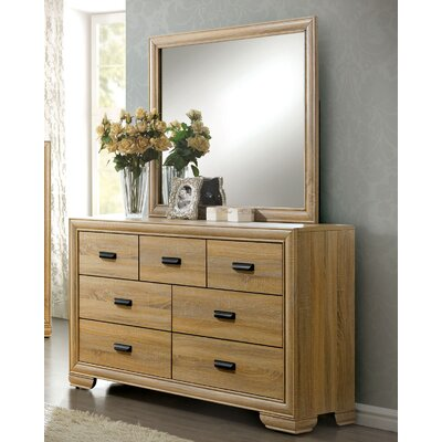 Campbell 5 Drawer Dresser with Mirror