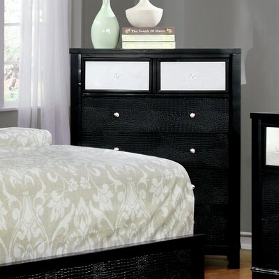 Ariadne Contemporary 4 Drawer Chest Color: Black
