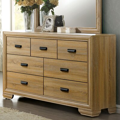 Campbell Contemporary 5 Drawer Dresser