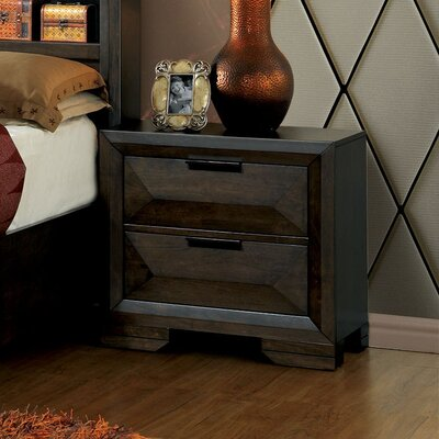Bender Contemporary 2 Drawer Nightstand