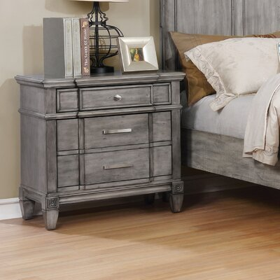 Parham Transitional 2 Drawer Nightstand