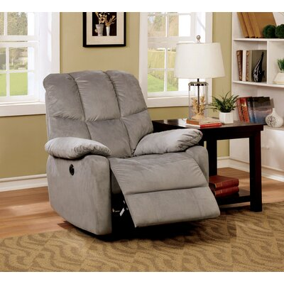 Charlotte Transitional Recliner Finish: Gray