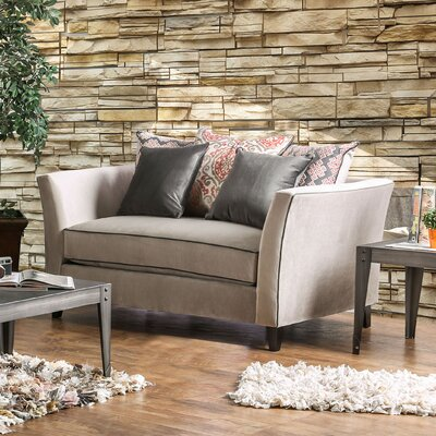 Meyer Contemporary Loveseat Upholstery: Gray