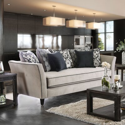 Meyer Sofa Upholstery: Light Gray/Gray