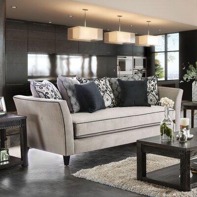 Meyer Contemporary Sofa Color: Light Gray/Gray