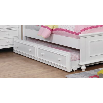 Eliot Traditional Trundle Unit Color: White