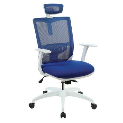 Macungie Contemporary Office Mid-Back Mesh Desk Chair Color: Blue