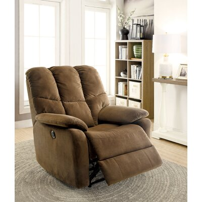Charlotte Manual Recliner Upholstery: Brown
