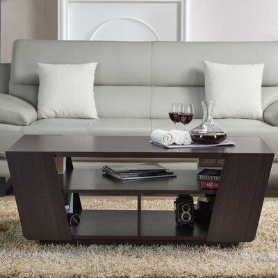 Hamblen Contemporary Coffee Table with Magazine Rack