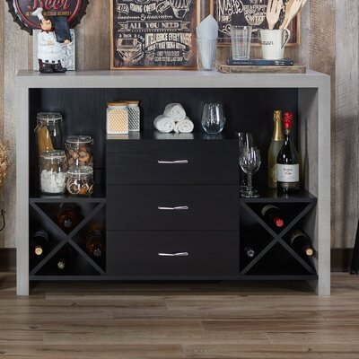 Loganville Contemporary Server Color: Black